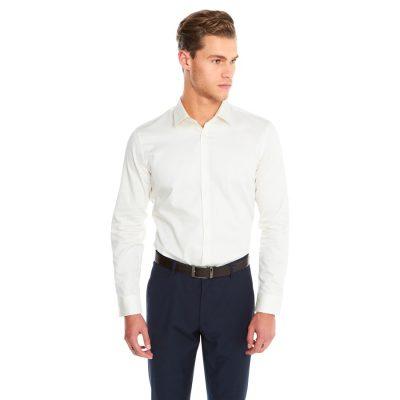Fashion 4 Men - yd. Javier Dress Shirt Ivory M