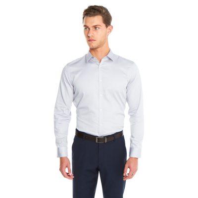 Fashion 4 Men - yd. Javier Dress Shirt Silver M