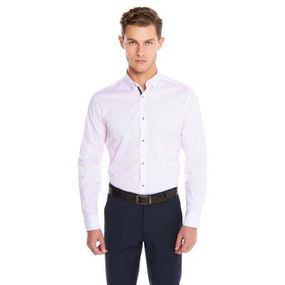 Fashion 4 Men - yd. Maison Dress Shirt Pink 2 Xs