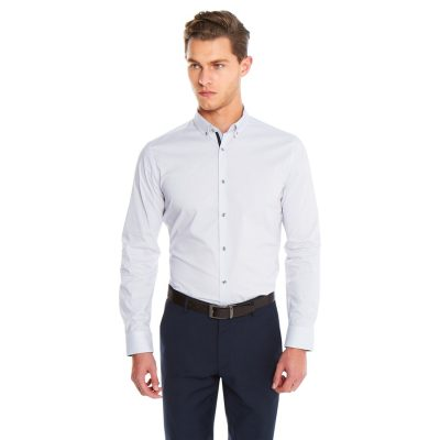 Fashion 4 Men - yd. Maison Dress Shirt Purple L