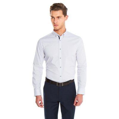 Fashion 4 Men - yd. Maison Dress Shirt Purple Xl