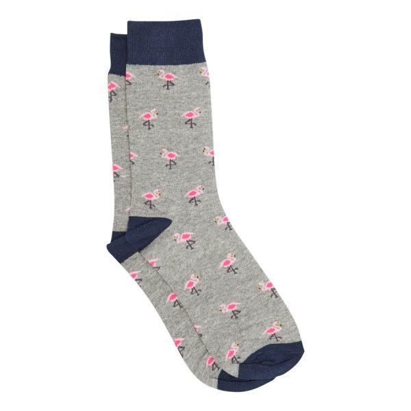 Fashion 4 Men - yd. New Flamingo Sock Grey One