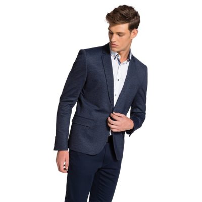 Fashion 4 Men - yd. Ponte Blazer Blue Xxxl