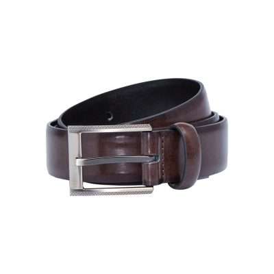 Fashion 4 Men - yd. Regent Dress Belt Chocolate/Blk 40