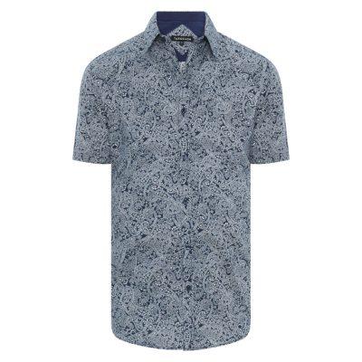 Fashion 4 Men - Tarocash Pilkington Paisley Shirt Navy L