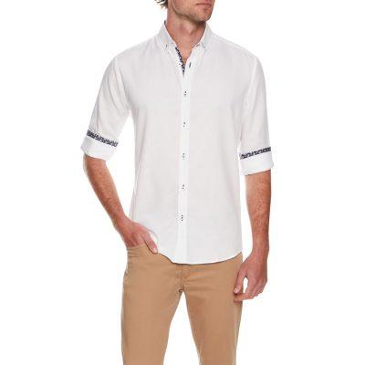 Fashion 4 Men - Tarocash Piper Textured Shirt White M