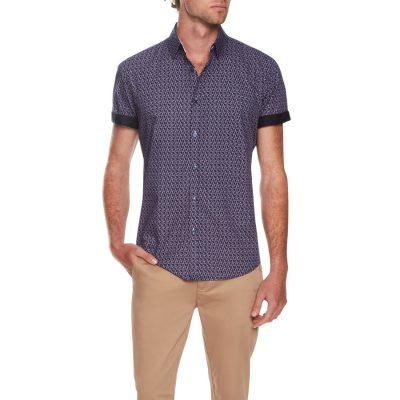 Fashion 4 Men - Tarocash Silouette Flamingo Shirt Navy Xxxl