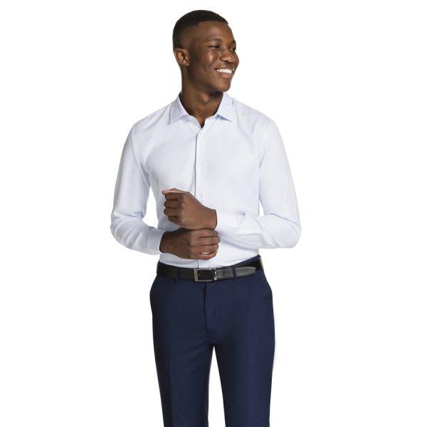 Fashion 4 Men - yd. Aramac Slim Fit Dress Shirt Light Blue Xl
