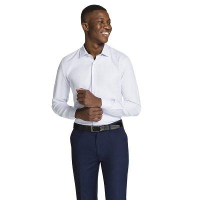 Fashion 4 Men - yd. Aramac Slim Fit Dress Shirt Light Blue Xs