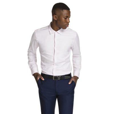 Fashion 4 Men - yd. Aramac Slim Fit Dress Shirt Pink L