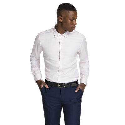 Fashion 4 Men - yd. Aramac Slim Fit Dress Shirt Pink Xxxl