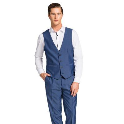 Fashion 4 Men - yd. Beamer Waistcoat Blue 2 Xs