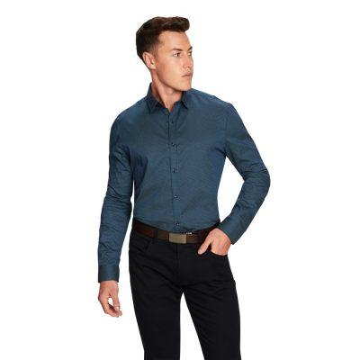 Fashion 4 Men - yd. Dooley Slim Fit Shirt Dark Blue S