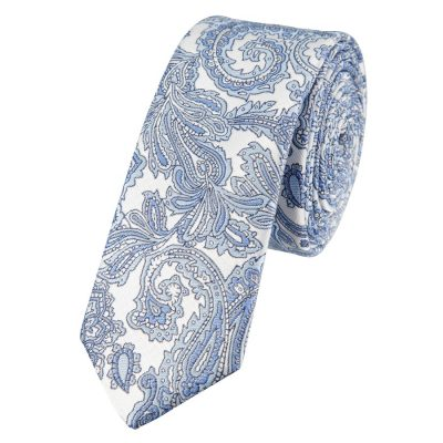 Fashion 4 Men - yd. Elvis 5 Cm Paisley Tie Light Blue One