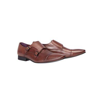 Fashion 4 Men - yd. Franklin Monk Strap Dress Shoe Tan Brown 11