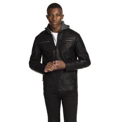 Fashion 4 Men - yd. Hooded Cassan Jacket Black 2 Xs