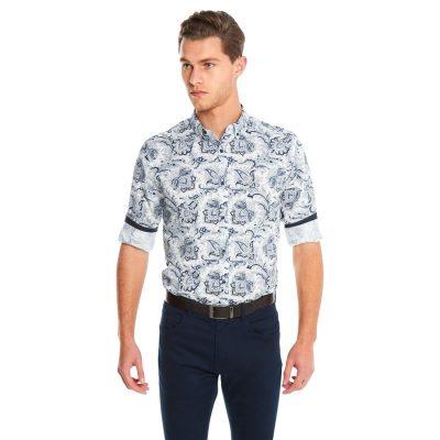 Fashion 4 Men - yd. Jethro Slim Fit Shirt White 2 Xs