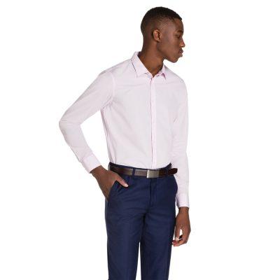 Fashion 4 Men - yd. Largo Slim Fit Dress Shirt Pink 3 Xs