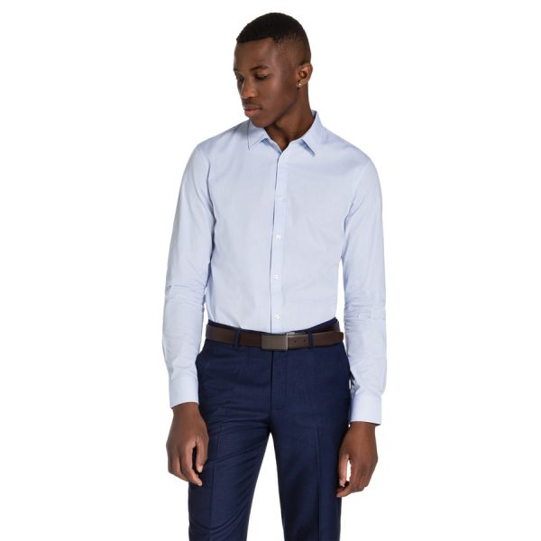 Fashion 4 Men - yd. Largo Slim Fit Dress Shirt Sky 3 Xs