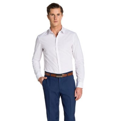 Fashion 4 Men - yd. Largo Slim Fit Dress Shirt White Xs