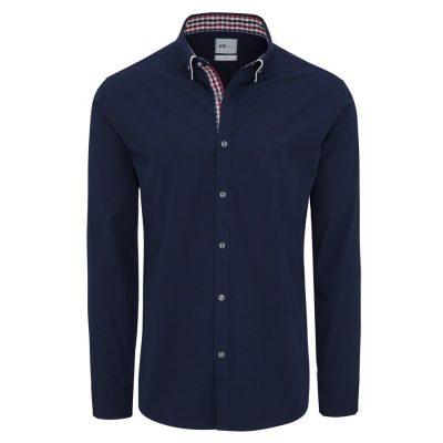 Fashion 4 Men - yd. Leor Slim Fit Shirt Navy Xl