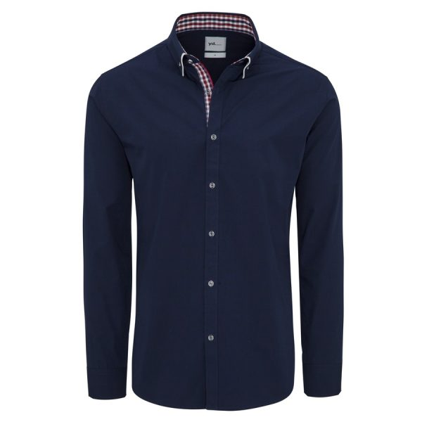 Fashion 4 Men - yd. Leor Slim Fit Shirt Navy Xxxl