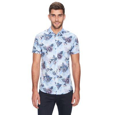 Fashion 4 Men - yd. Manoy Ss Shirt Light Blue S