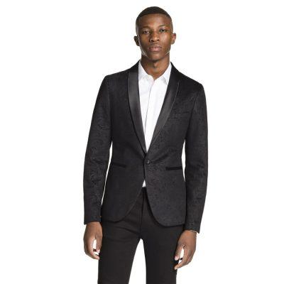 Fashion 4 Men - yd. Printed Spy Jacket Black L