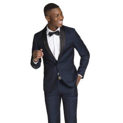 Fashion 4 Men - yd. Rothchild Shawl Collar Skinny Suit Dark Blue 48