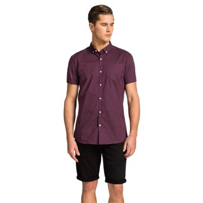 Fashion 4 Men - yd. Shane Ss Shirt Burgundy Xs