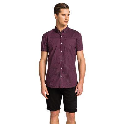 Fashion 4 Men - yd. Shane Ss Shirt Burgundy Xxxl