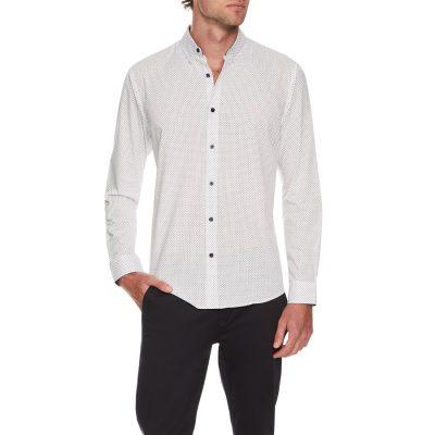 Fashion 4 Men - Tarocash Bevers Print Shirt White L