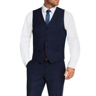 Fashion 4 Men - Tarocash Donovan Waistcoat Navy 4 Xl