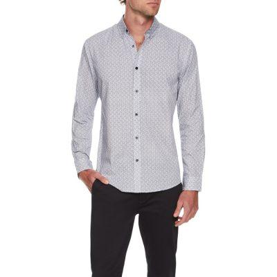 Fashion 4 Men - Tarocash Glazer Print Shirt Navy S