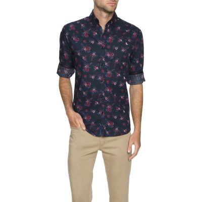 Fashion 4 Men - Tarocash Kevin Floral Shirt Navy S