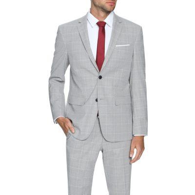 Fashion 4 Men - Tarocash Rubin Stretch 2 Button Suit Grey 46