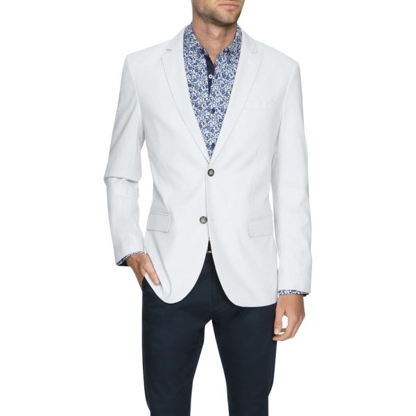 Fashion 4 Men - Tarocash Snowden Textured Blazer Ice M