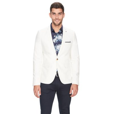 Fashion 4 Men - yd. Alec Linen Blazer Natural M