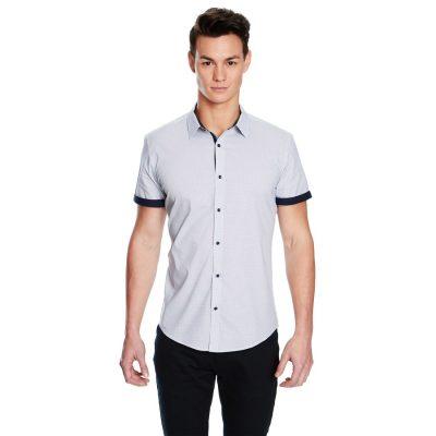 Fashion 4 Men - yd. Apsley Slim Fit Ss Shirt Light Blue L