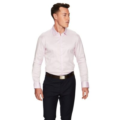 Fashion 4 Men - yd. Axton Slim Fit Dress Shirt Pink M