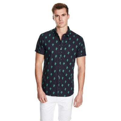 Fashion 4 Men - yd. Cactus Ss Shirt Dark Blue S