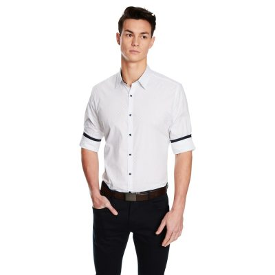 Fashion 4 Men - yd. Dice Slim Fit Shirt White 3 Xs
