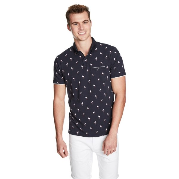 Fashion 4 Men - yd. Flamingo Polo Dark Blue 2 Xs
