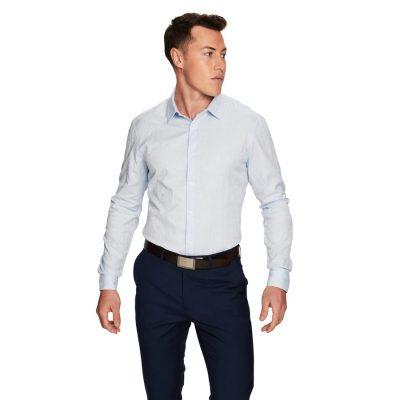 Fashion 4 Men - yd. Florian Slim Fit Dress Shirt Light Blue S
