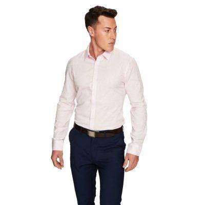 Fashion 4 Men - yd. Florian Slim Fit Dress Shirt Pink L
