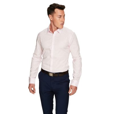 Fashion 4 Men - yd. Florian Slim Fit Dress Shirt Pink Xxxl