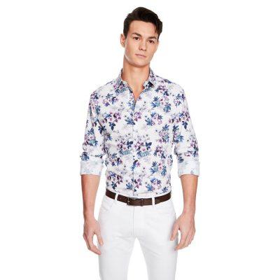 Fashion 4 Men - yd. Floripa Floral Slim Fit Shirt Multi 2 Xs