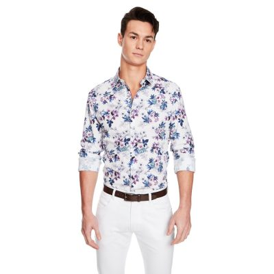 Fashion 4 Men - yd. Floripa Floral Slim Fit Shirt Multi L
