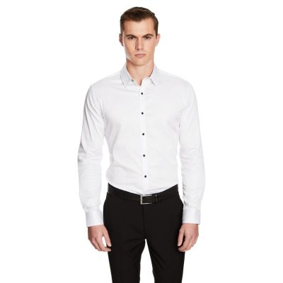 Fashion 4 Men - yd. Hutton Slim Fit Dress Shirt White Xl