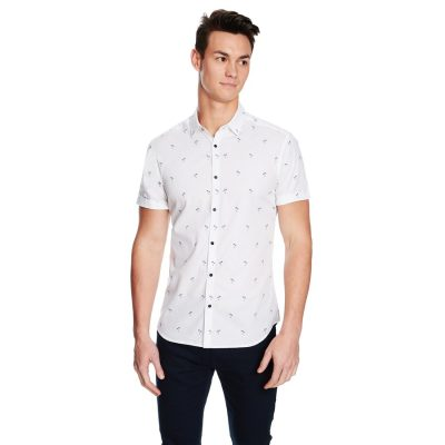 Fashion 4 Men - yd. Jamaican Ss Shirt White L